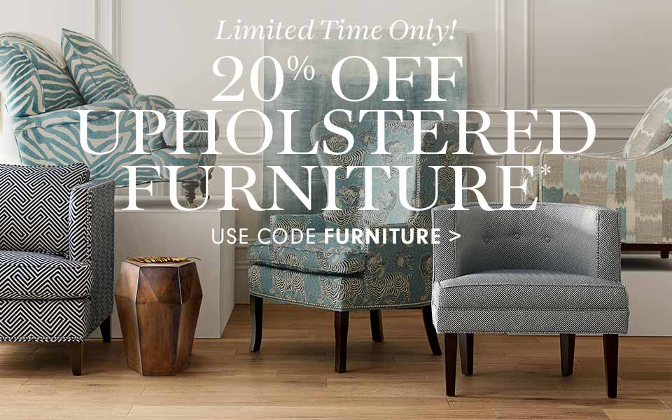 20% Off Upholstered Furniture* with code FURNITURE