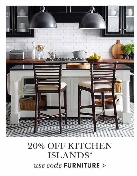 20% Off Kitchen Islands* with code FURNITURE
