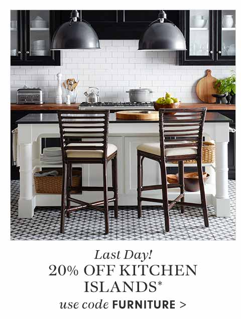 Last Day! 20% off Kitchen Islands