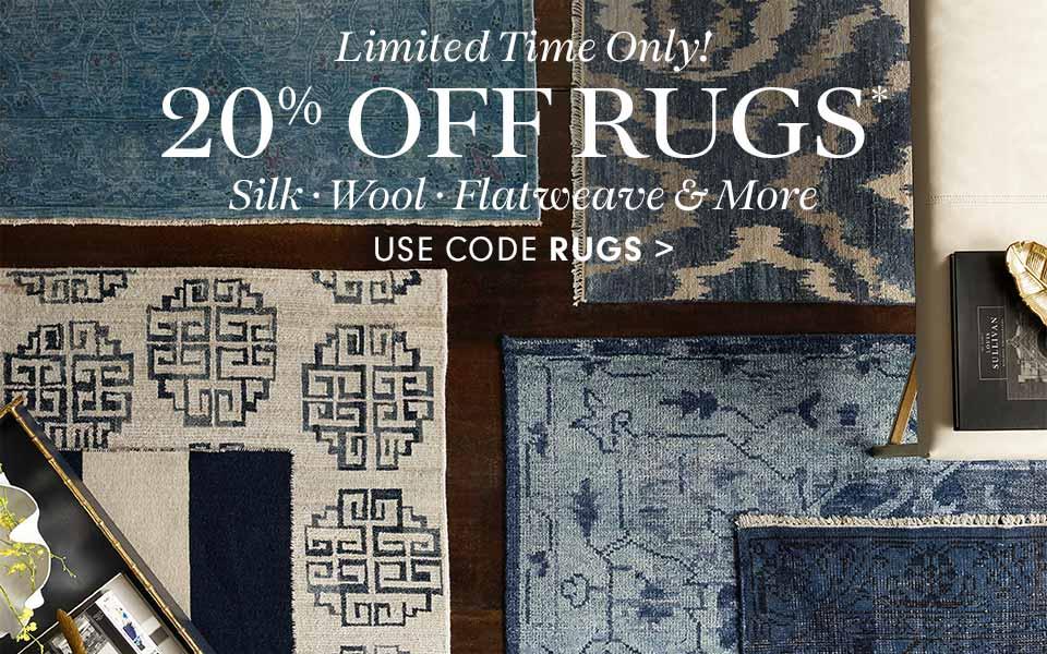 20% off Rugs: code RUGS