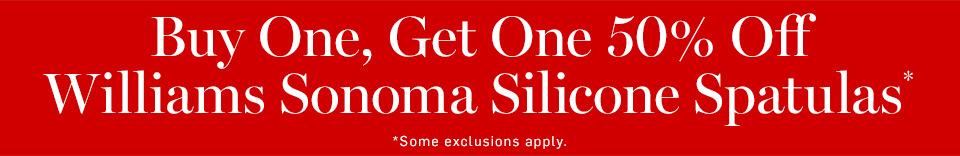 Buy One, Get One 50% Off Williams Sonoma Silicone Spatulas*