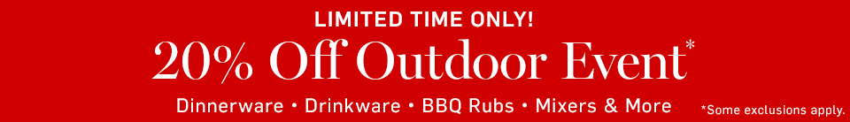 Limited Time Only! 20% Off Outdoor Event*