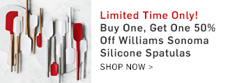 Buy One, Get One 50% Off Williams Sonoma Silicone Spatulas