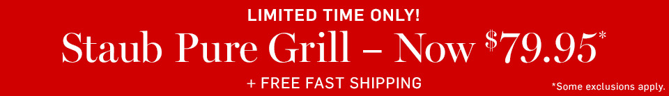 Limited Time Only! Staub Pure Grill Now $79.95 + Free Fast Shipping