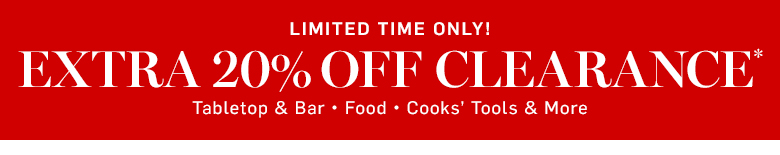 Limited Time Only! Extra 20% Off Clearance* Use code: EXTRA