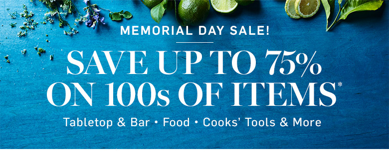 Memorial Day Sale! Save up to 75% on 100s of Items*