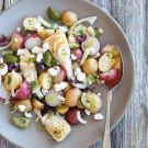 Potato Salad with Artichokes, Feta Cheese & Olive Relish