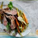 Rack of Lamb with Herb and Mustard Crust