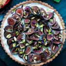 Fig Tart with Mascarpone and Pistachios
