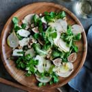 Mâche Salad with Figs and Pears