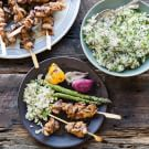 Red Miso Chicken Skewers