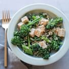 Spicy Tofu, Rice and Broccolini Salad