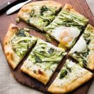 Shaved Asparagus & Herb Pizza with Egg