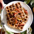 Spiced Caramel Apple Waffles