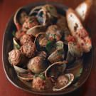 Clams with White Wine, Tomatoes, and Sausages