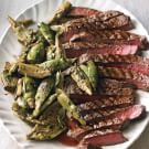 Sliced Steak with Sautéed Artichokes