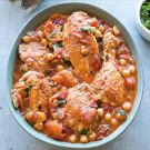 Moroccan Chicken with Chickpeas and Dried Apricots