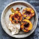 Honey-Glazed Roasted Peaches with Mascarpone