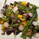 Air-Fried Vegetable Salad with Chimichurri Vinaigrette