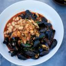Fino-Steamed Mussels with Chorizo and White Beans