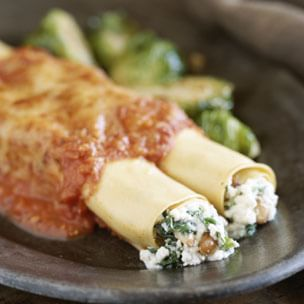 Cannelloni with Spinach and Pine Nuts