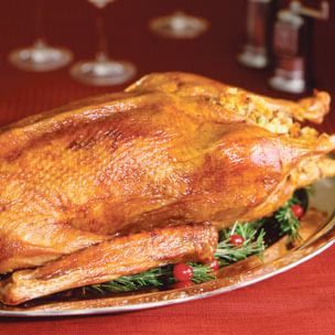 Roast Goose with Chestnut and Leek Stuffing