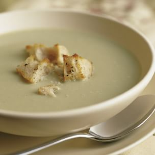 Sorrel Soup with Torn Croutons
