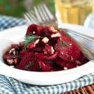 Beet and Walnut Salad with Dill