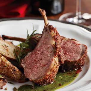Porcini-Crusted Lamb Chops with Rosemary-Garlic Emulsion | Williams ...