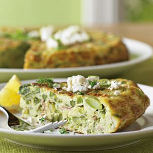 Asparagus and Goat Cheese Frittata