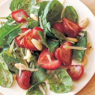 Baby Spinach Salad with Roasted Strawberries