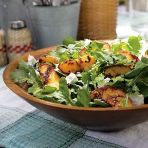 Peach, Arugula & Goat Cheese Salad