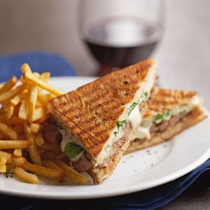 Flank Steak Panini with Matchstick Fries