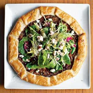 Onion Tarts with Mixed Greens