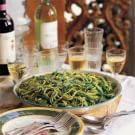 Trenette with Potatoes, Green Beans and Pesto (Trenette al Pesto)