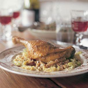 Roast Duck Legs with Savoy Cabbage (Cuisses de Canard au Chou)
