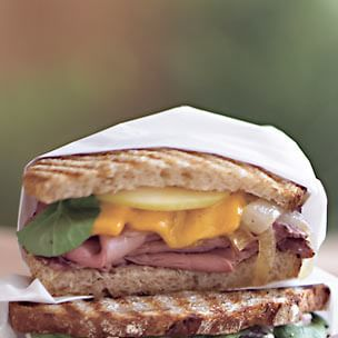 Roast Beef and Caramelized Onion Panini