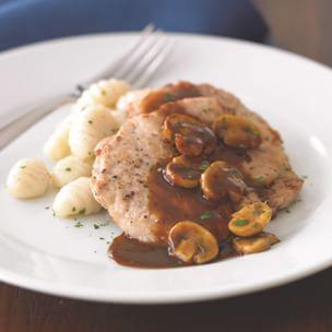 Pork Scallopini with Mushrooms and Marsala Sauce