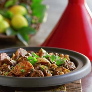 Lamb Tagine with Potatoes and Chickpeas