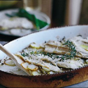 Oven-Roasted Trout with Potatoes