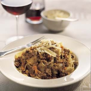 Pappardelle with Rich Meat Sauce (Pasta alla Bolognese)