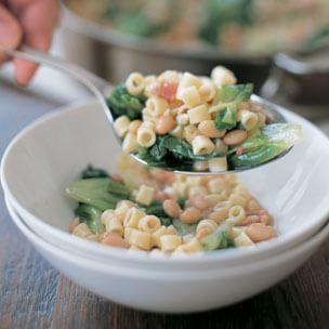 Pasta with Beans & Escarole