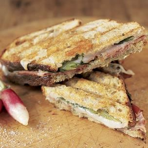 Prosciutto Panini with Pesto Mayonnaise