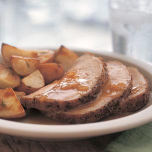 Roast Pork Loin with Pan Sauce