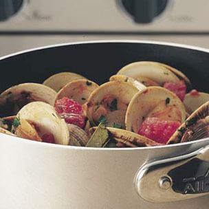 Clams with Sausage and Tomatoes