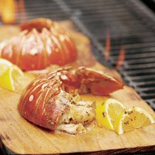 Cedar-Planked Lobster Tails