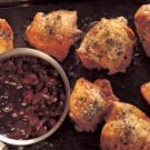 Roasted Chicken Thighs with Cherry-Thyme Compote