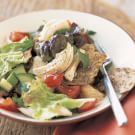 Turkey Fattoush Salad with Pita Croutons (Zahtar)