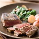 New York Strip Steak with Creamed Spinach (Vadouvan)