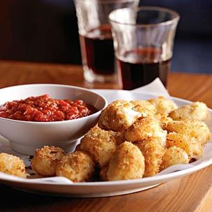 Fried Bocconcini with Spicy Tomato Sauce